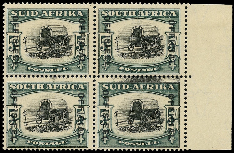 SOUTH AFRICA 1935  SGO26, var Official