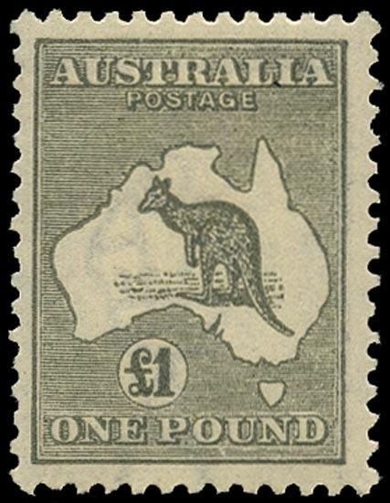 AUSTRALIA 1923  SG75 Mint £1 grey Kangaroo and Map
