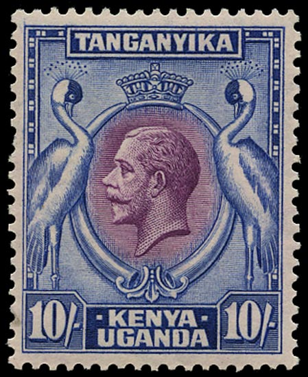 KUT 1935  SG122 Mint 10s purple and blue, unmounted o.g.