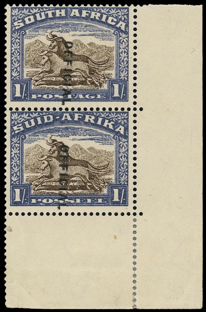 SOUTH AFRICA 1935  SGO25var Official
