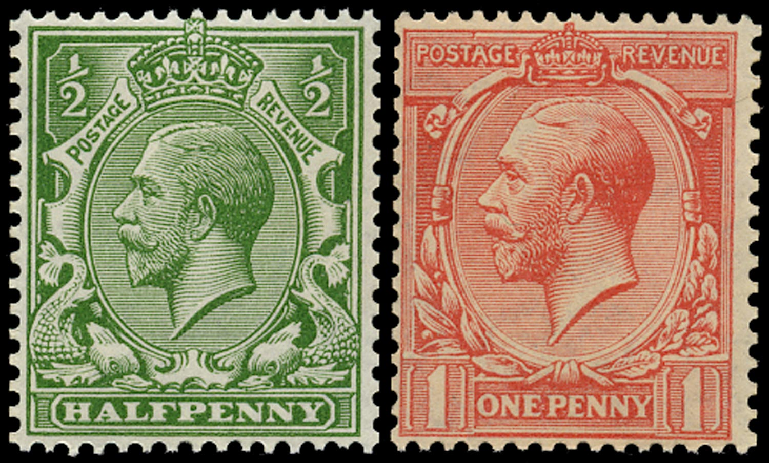 GB 1913  SG397/8 Mint unmounted o.g. set of two