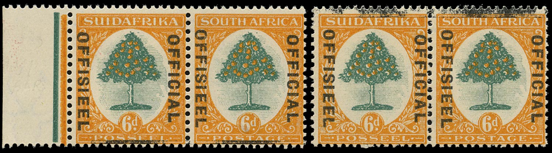 SOUTH AFRICA 1929  SGO9 var Official