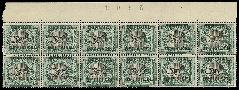 SOUTH AFRICA 1930  SGO12/a/b, var Official