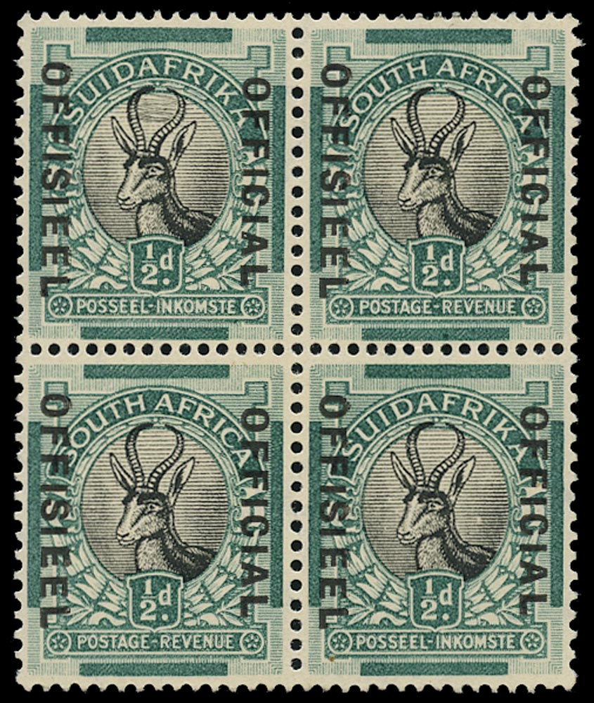 SOUTH AFRICA 1930  SGO12/c Official