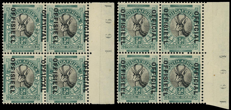 SOUTH AFRICA 1930  SGO12, var Official