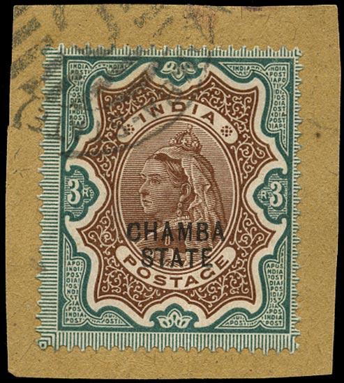 I.C.S. CHAMBA 1887  SG20 Used