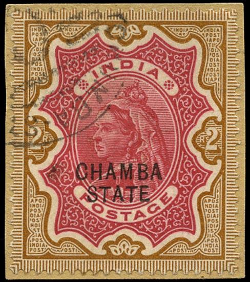 I.C.S. CHAMBA 1887  SG19 Used