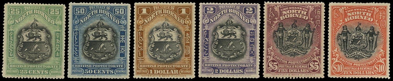 NORTH BORNEO 1911  SG178/83 Mint