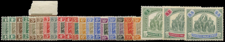 MALAYA - F.M.S. 1904-22  SG27/50 Mint