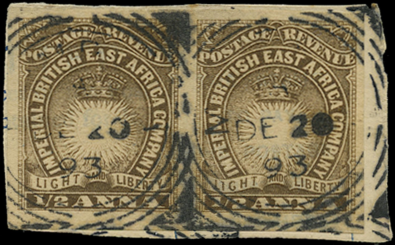 BRITISH EAST AFRICA 1893  SG4ba Used