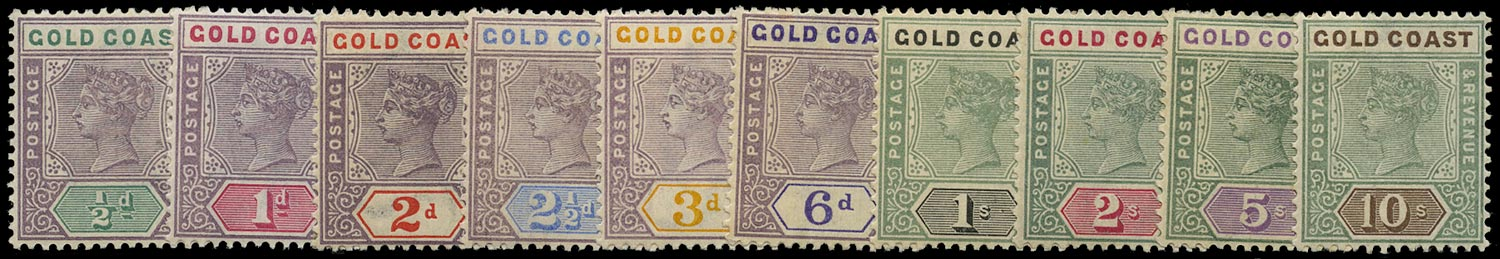 GOLD COAST 1898  SG26-34 Mint
