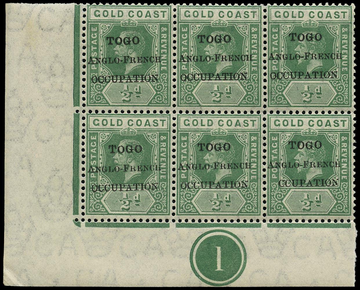 TOGO 1915  SGH34e Mint