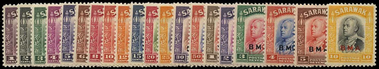 SARAWAK 1945  SG126/145 Mint