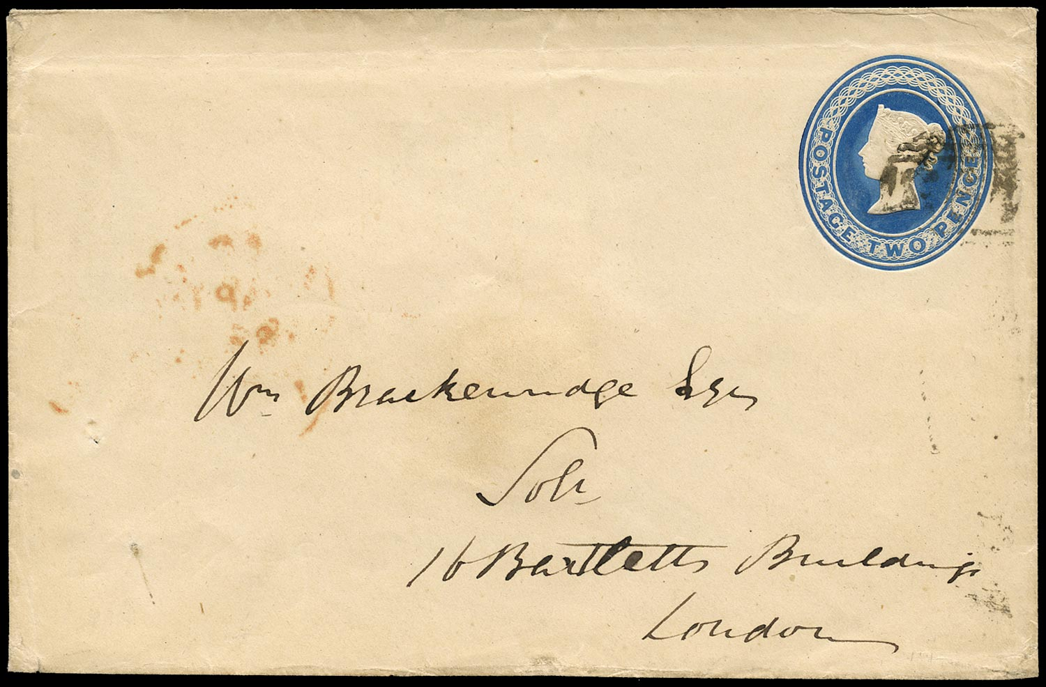 GB 1841  SGSE4a Postal Stationery 2d on Mulready envelope paper