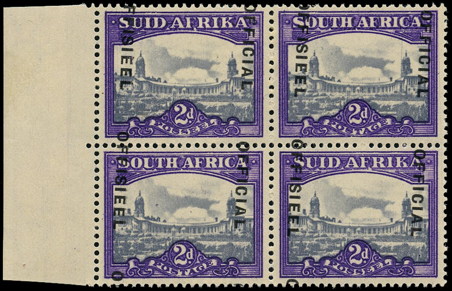 SOUTH AFRICA 1947  SGO36b var Official
