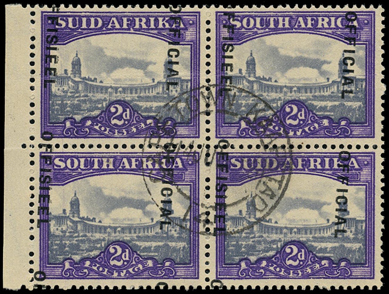 SOUTH AFRICA 1947  SGO36b var Official