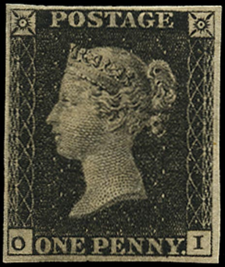 GB 1840  SG2 Pl.7 Penny Black