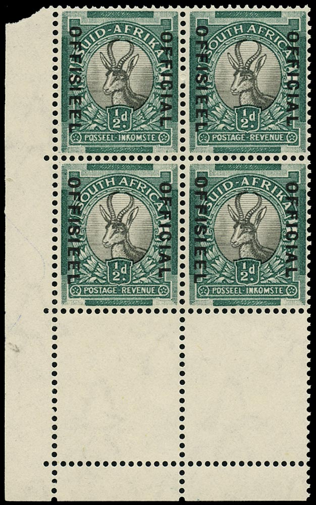 SOUTH AFRICA 1935  SGO20 Official
