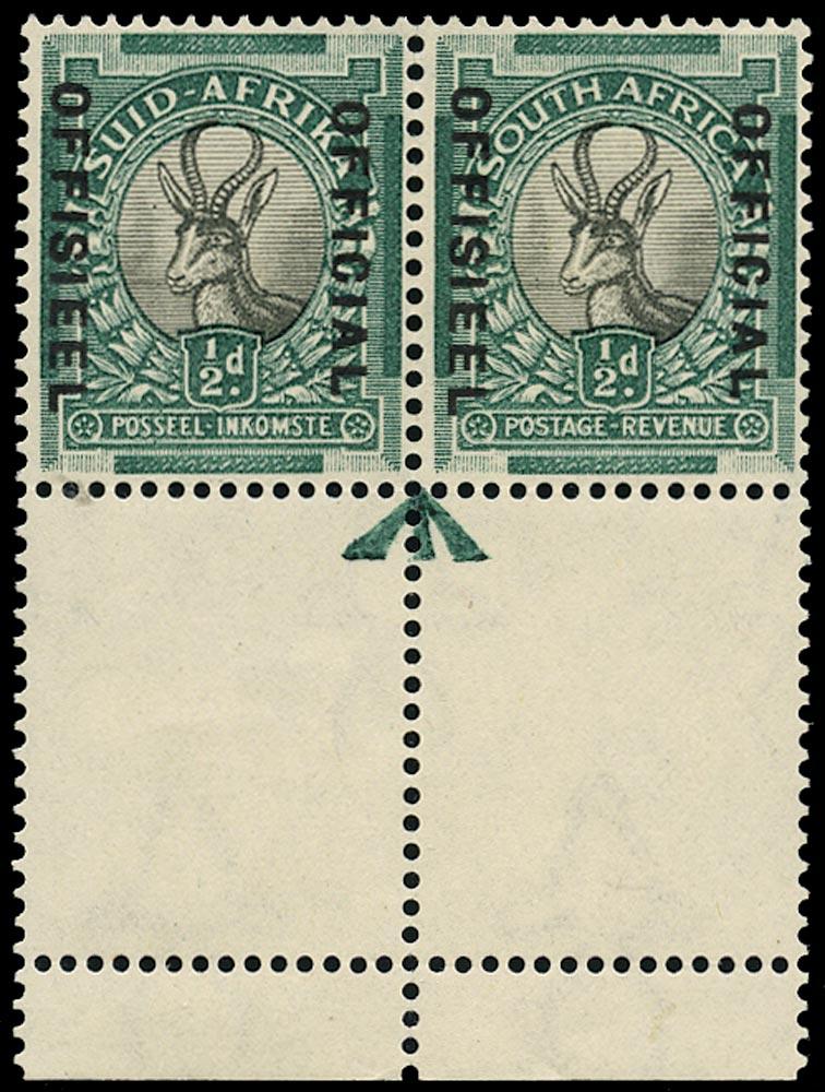 SOUTH AFRICA 1935  SGO20 Official