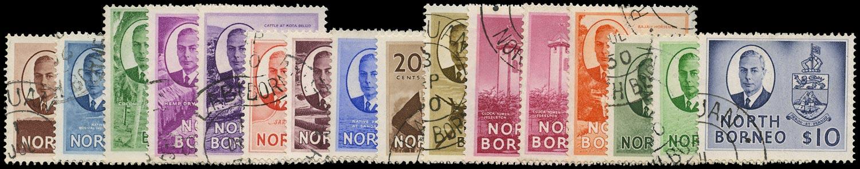 NORTH BORNEO 1950  SG356/70 Used