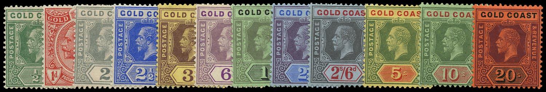 GOLD COAST 1913-21  SG71/84 Mint