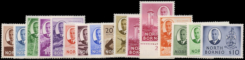 NORTH BORNEO 1950  SG356/70 Mint