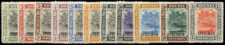 BRUNEI 1907  SG23xs/33s Specimen