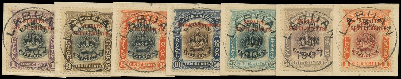 MALAYA - STRAITS 1906  SG141/51 btwn Used