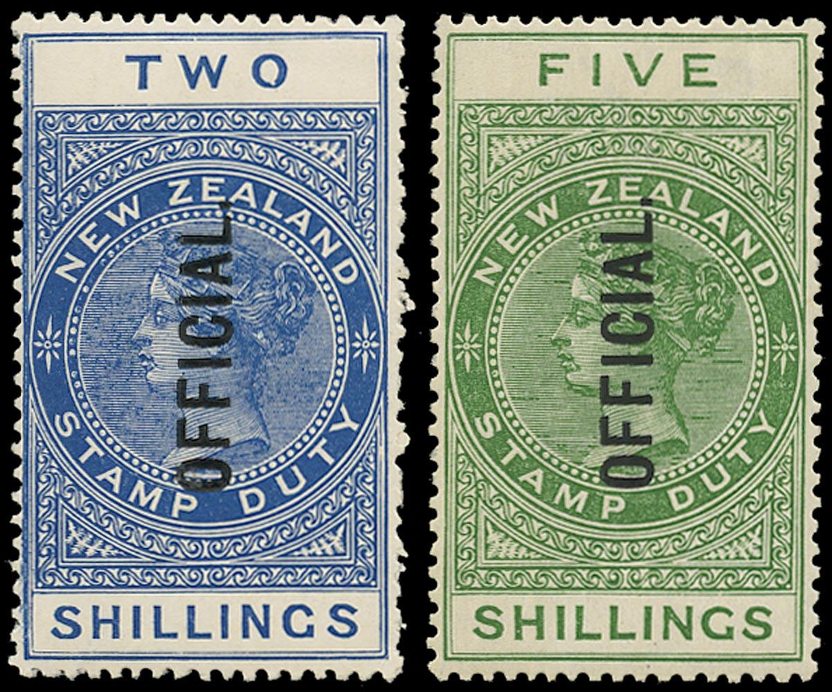 NEW ZEALAND 1913  SGO85/86 Official