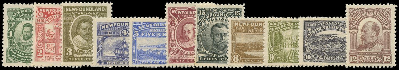 NEWFOUNDLAND 1910  SG95/105 Mint Guy set of 11 to 15c