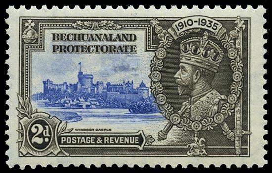 BECHUANALAND 1935  SG112b Mint Silver Jubilee 2d variety Short extra flagstaff