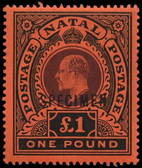 NATAL 1908  SG171s Specimen