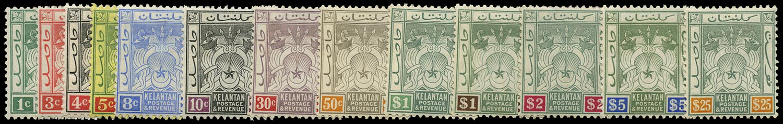 MALAYA - KELANTAN 1911  SG1/12 Mint