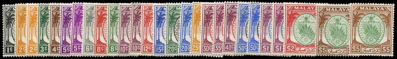MALAYA - N. SEMBILAN 1949  SG42/62 Mint unmounted set of 21 plus shades