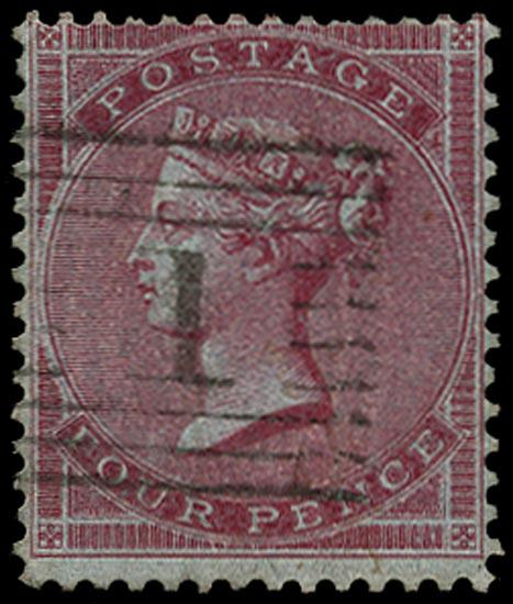GB 1855  SG62 Used Aberdeen