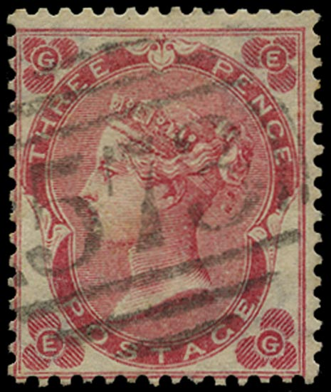 GB 1862  SG76 Pl.2 Used - North shields numeral example