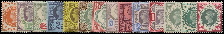 GB 1887  SG197/214 Mint U/M o.g. set of fourteen
