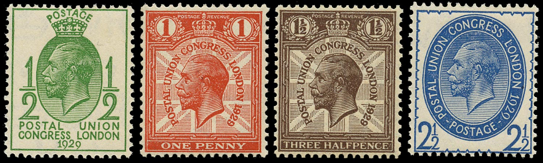 GB 1929  SG434/7 Mint U/M o.g. set four