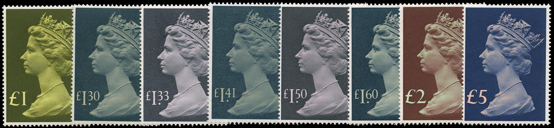 GB 1977  SG1026/8 Mint U/M o.g. set eight