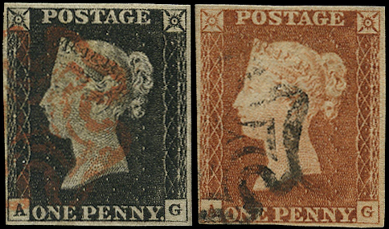 GB 1840-41  SG2,7 Pl.2 Penny Black