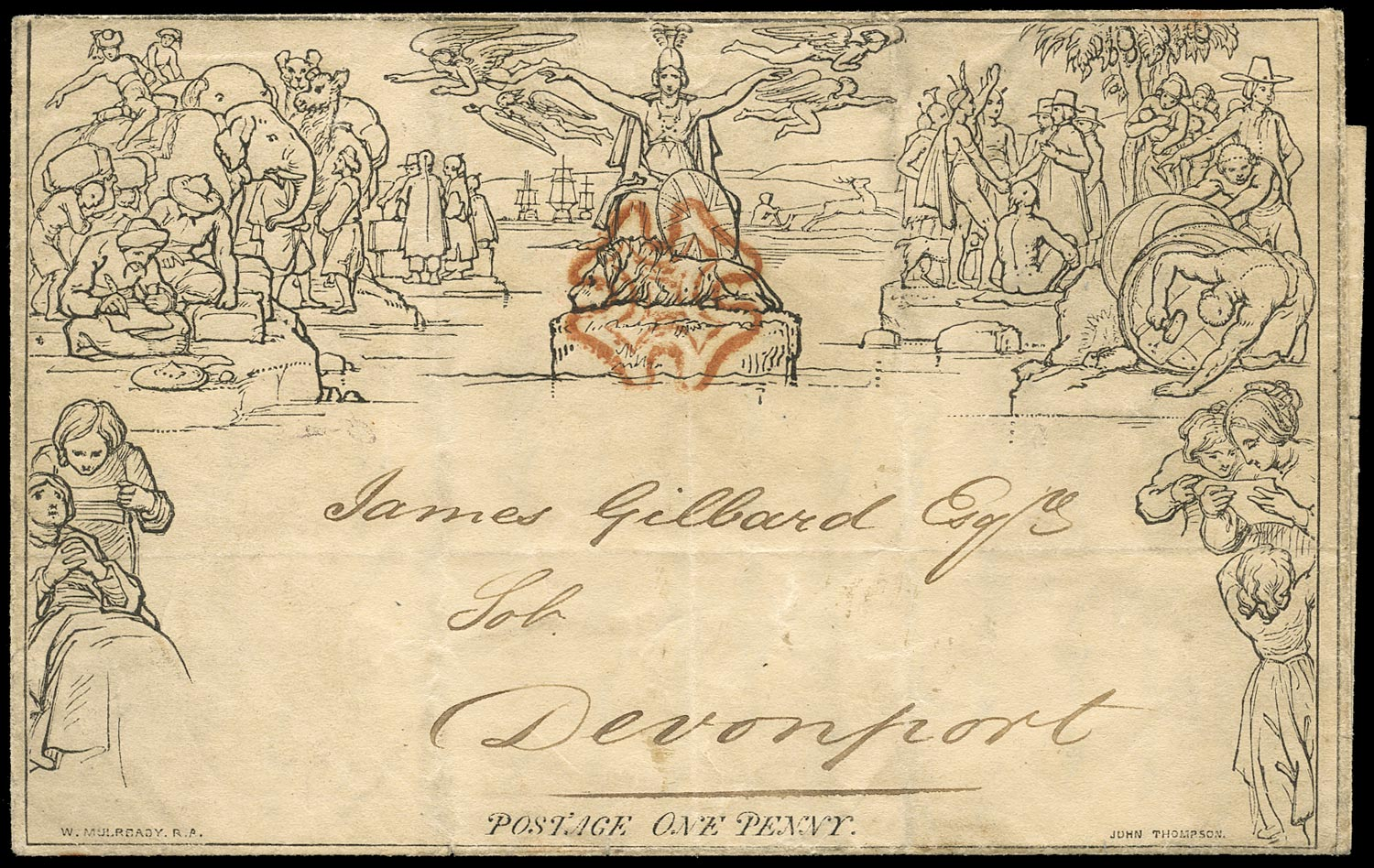 GB 1840  SGME1 Cover 'May 9th' fourth day of official use.
