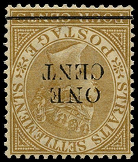 MALAYA - STRAITS 1892  SG89w Mint
