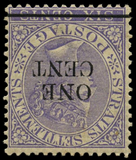 MALAYA - STRAITS 1892  SG90w Mint