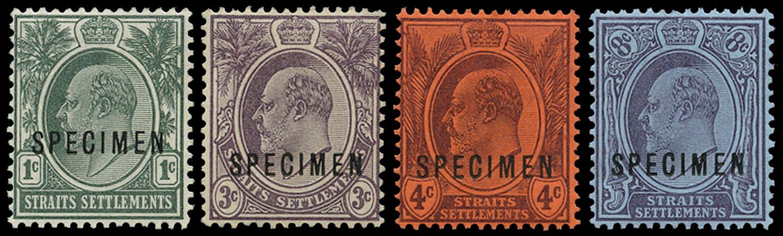 MALAYA - STRAITS 1903  SG123s/6s Specimen
