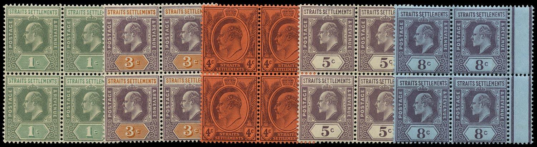 MALAYA - STRAITS 1902  SG110/14 Mint
