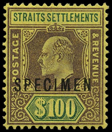 MALAYA - STRAITS 1902  SG122s Specimen