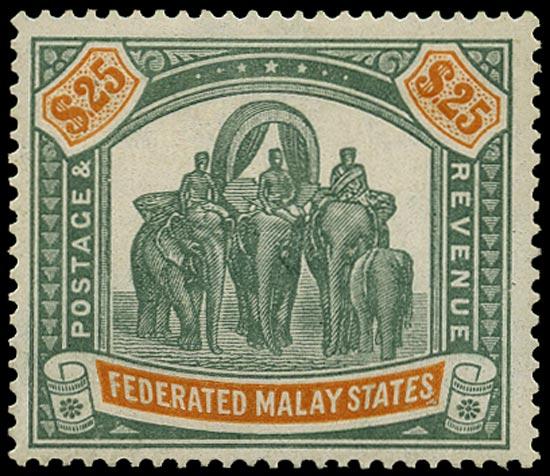 MALAYA - F.M.S. 1922  SG82 Mint