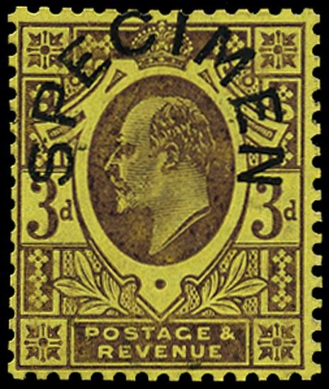 GB 1906  SG232cs Specimen