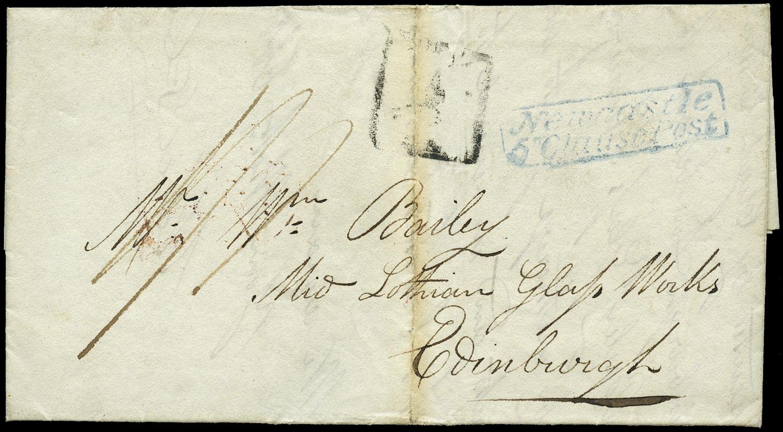 GB 1827 Pre-Stamp - blue