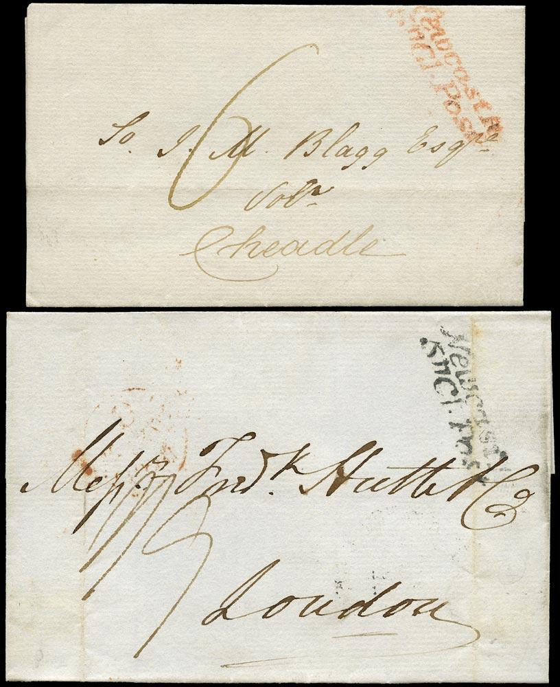GB 1838 Pre-Stamp - pair